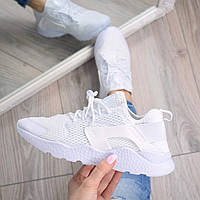 Кроссовки женские Huarache белые, спортивная обувь