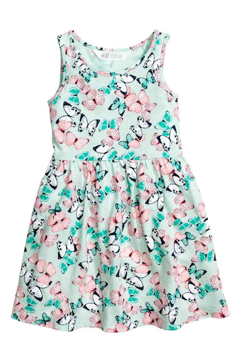 Летнее платье с бабочками на девочку 2-4 года H&M Швеция Размер 98-104