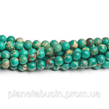 8 мм Изумрудный Варисцит, CN186, Натуральный камень, Форма: Шар, Отверстие: 1мм, кол-во: 47-48 шт/нить, фото 2