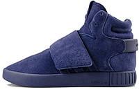 """Мужские кроссовки Adidas Tubular Invader Strap """"Blue Suede"""""""