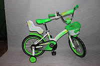 Велосипед двухколёсный 12 дюймов Azimut KIDS BIKE CROSSER-3 салатовый ***