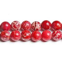 10 мм Красный варисцит, Натуральный камень, бусины 8 мм, Круглые, Отверстие 1,5 мм, кол-во: 38-39 шт/нить