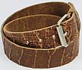 Женский кожаный ремень под крокодила, Tom Tailor, Германия, коричневый, фото 2