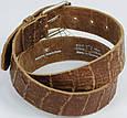 Женский кожаный ремень под крокодила, Tom Tailor, Германия, коричневый, фото 3