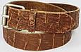 Женский кожаный ремень под крокодила, Tom Tailor, Германия, коричневый, фото 4