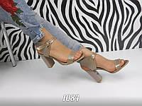 Женские босоножки на каблуке 9 см, натуральная лаковая кожа, коричневые / красивые босоножки для девочек