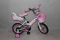 Велосипед двухколёсный 12 дюймов Azimut KIDS BIKE CROSSER-3 розовый ***