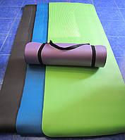 Коврик для йоги и фитнеса (183см*61см*10мм)
