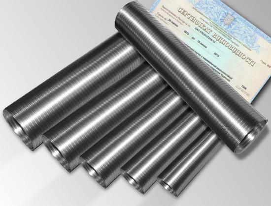 Дымоход гофрированный нержавеющая сталь  ф 250 мм