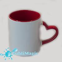 Чашка сублимационная цветная внутри LOVE Красная