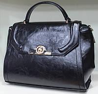 Сумка-Партфель женская деловая Valetta Искуственная кожа+лак Черная 17-778-7