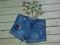 Стильные модные джинсовые шорты для девочки рост 134-140 см
