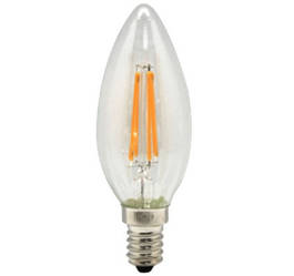 Лампа LED LB0430-E14-CanF, C37 4Вт Е14 3000K 450LM 4pcs filament