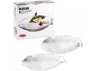 Блюдо для рыбы Марине тарелка Рыба 20*16 см (6 шт.)