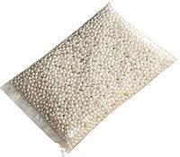 Бусины акриловые (6мм/500г) под жемчуг белые