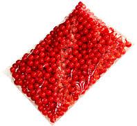 Бусины акриловые (12мм/500г) под жемчуг красные
