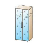 """Шкаф зеркальный для одежды и белья """"ШК-111"""",ф-ка """"Лером"""""""