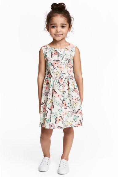 Белое летнее платье с бабочками на девочку 1.5-2 года 100% хлопок H&M Швеция Размер 92