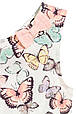 Белое летнее платье с бабочками на девочку 1.5-2 года 100% хлопок H&M Швеция Размер 92, фото 3
