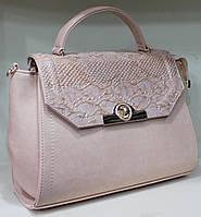 Сумка-Партфель женская деловая Valetta Искуственная кожа+лак Нежно розовая 17-778-10