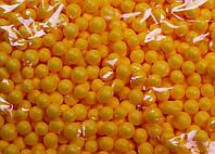 Пенопластовые шарики (вес 10g, диаметр 7mm)  для рукоделия, творчества и декора желтые