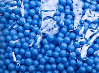 Пенопластовые шарики (вес 10g, диаметр 7mm)  для рукоделия, творчества и декора голубые