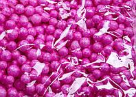 Пенопластовые шарики (вес 10g, диаметр 7mm)  для рукоделия, творчества и декора темно-розовые