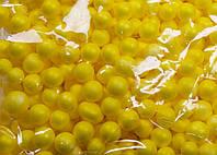 Пенопластовые шарики (вес 10g, диаметр 7mm)  для рукоделия, творчества и декора лимонные