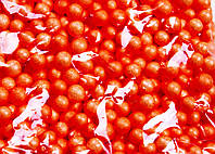 Пенопластовые шарики (вес 10g, диаметр 7mm)  для рукоделия, творчества и декора оранжевые