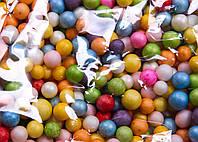 Пенопластовые шарики (вес 10g, диаметр 7mm)  для рукоделия, творчества и декора цветные