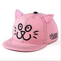 Кепка-реперка котик с ушками.