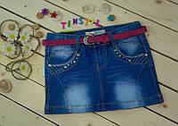 Стильная  модная  джинсовая юбка для девочки рост 134-164