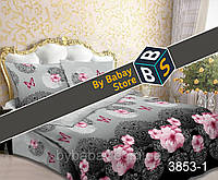 Постельная ткань,постельная ткань Бязь,ткань для постельного белья,  Бязь 3D набивная Царица ночи