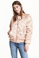 Женская стеганая куртка бомбер H&M в наличии XS S M, фото 1