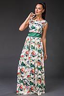 Элегантное платье в пол из королевского атласа