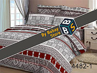 Постельная ткань,постельная ткань Бязь,ткань для постельного белья,  Бязь 3D набивная Северные мотивы