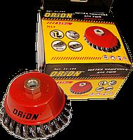 Щетка-крацовка чашечная 100 мм для УШМ, М14 (витая проволока) ORION