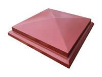 Крышка на столб забора  «Пирамида с основанием»