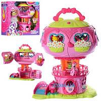 Игровой набор домик пони Воздушный шар Little Pony: 2 фигурки, свет + звук