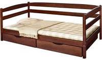 "Букове ліжко ""Єва"" із шухлядами"