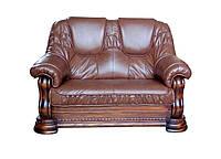 """Новый кожаный диван """"Grizly"""" (Гризли) Двухместный (146 см), Французская раскладушка, натуральная кожа"""