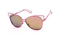 Женские солнцезащитные очки в стильной круглой оправе в виде кошки