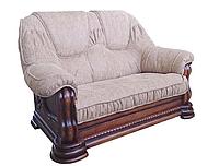 """Новый кожаный диван """"Grizly"""" (Гризли) Двухместный (146 см), Французская раскладушка, ткань"""