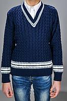 Вязаный детский свитер для мальчика