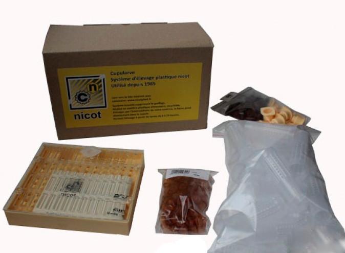 """Комплект - Система """"Никот-20""""(кассета, мисочки 110, цоколь 20, держатель 20, бигуди 20), Франция"""