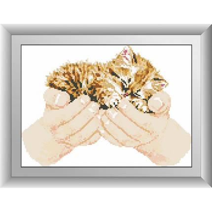 "Набор для рисования камнями ""Котенок в руках"", фото 2"