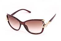 Женские солнцезащитные очки в стильной оправе, украшенной лебедем
