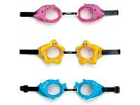 Очки для плавания детские 3-10 лет, Intex 55603