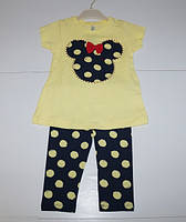 Детский летний костюм для девочек от 2 до 5 лет.