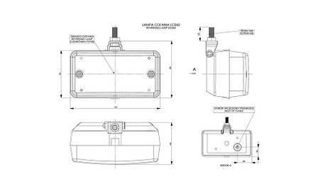 Универсальный фонарь заднего хода  II (на подвеске)    , фото 2